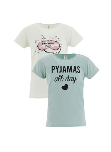DeFacto Pijama Üst Turkuaz